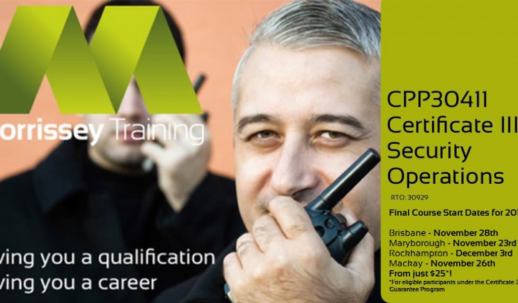 Final Security Training dates for 2016